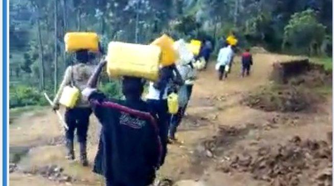"""Rubavu-Rutsiro: Abitwa """"Abadongi"""" bavanga amata n'amazi bakoresheje inkweto za Bote"""