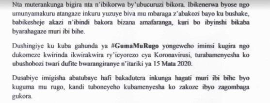 "Ikinyamakuru ITABAZA cyafunze imiryango nyuma yo kongera iminsi ya ""GumaMurugo"""