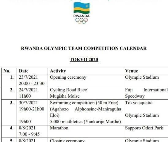 Imikino Olempike iratangira kuri uyu wa Gatanu, menya umunsi Abanyarwanda bazarushanwa