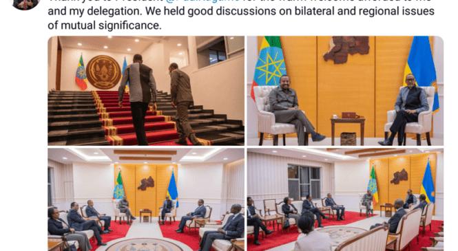 Minisitiri Abiy Ahmed wa Ethiopia yashimiye Perezida Kagame